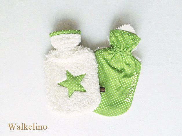 Warmflaschen Kinder Warmflasche Stern Bw Teddy Grun Punkte Ein Designerstuck Von Walkelino Bei Dawanda Gruner Punkt Warmflasche Sterne