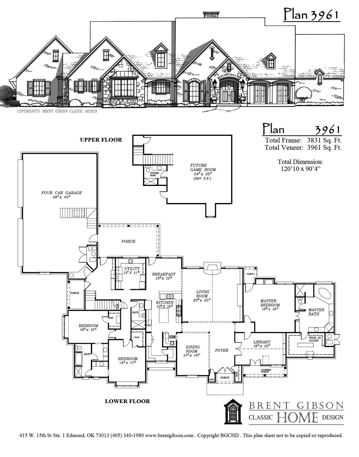 Plan 3961 Brent Gibson Three Bedroom House Plan House Plans Bedroom House Plans