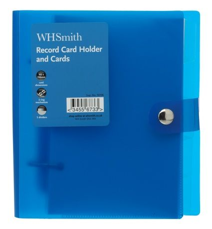 Sharing whsmith blue plastic plastic popper record card holder and sharing whsmith blue plastic plastic popper record card holder and cards from whsmith reheart Images