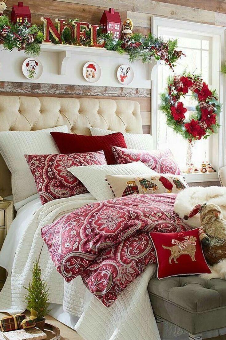 30+ Free Cozy Christmas Bedroom Decoration Ideas New 2020