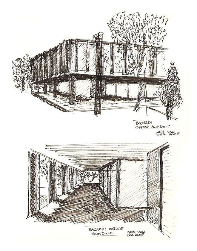 Pin By Hagar Ahmed On Croquis Architecture Drawing Mies Van Der Rohe Van Der Rohe