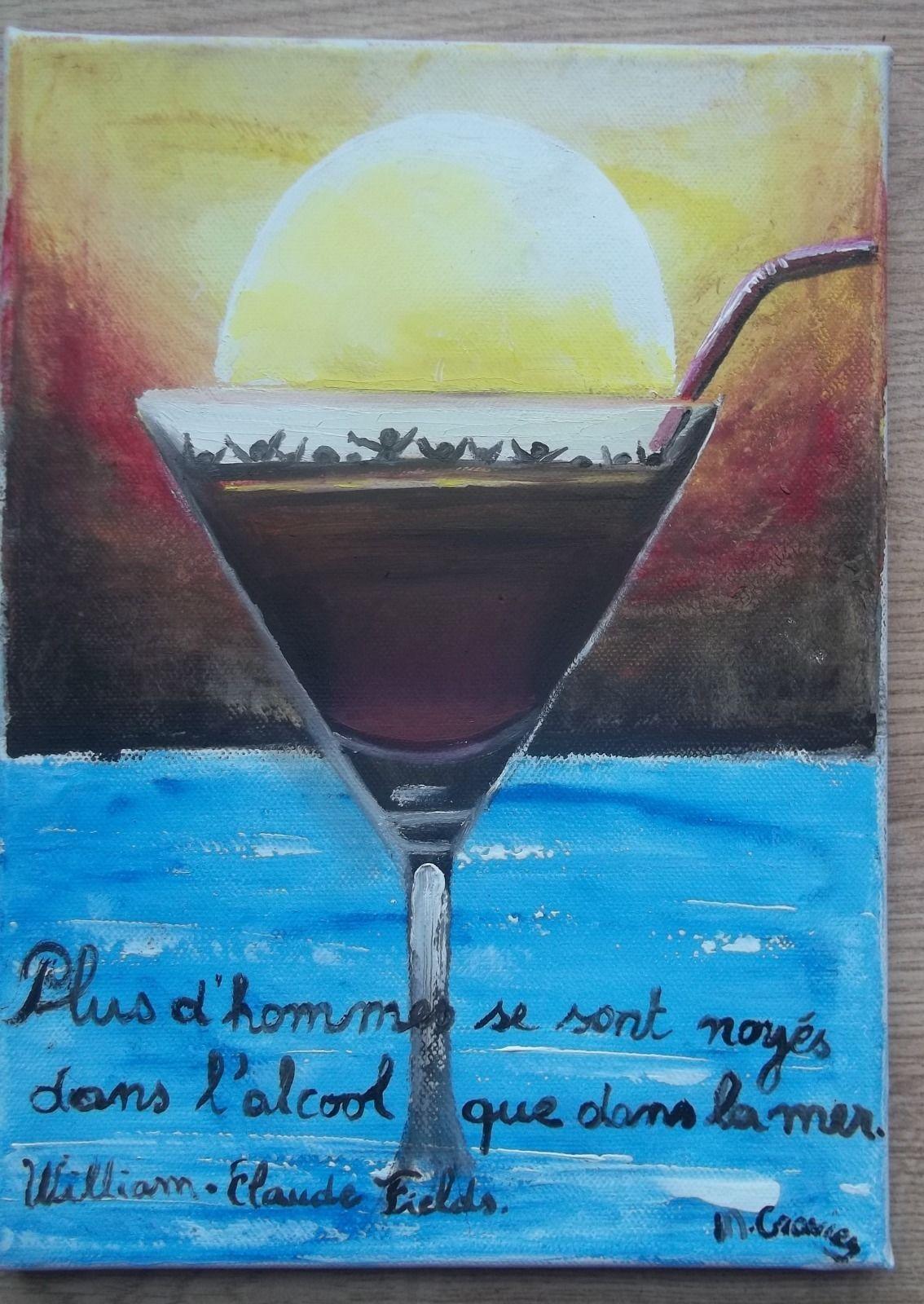 Tableau peinture huile sur toile, humour citation \