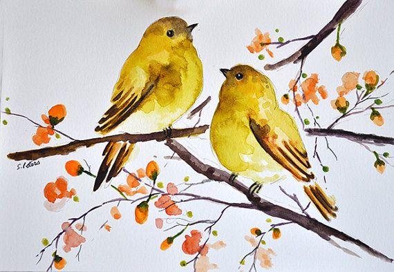 Canary Art Print Yellow Bird Animal Art Wall Decor