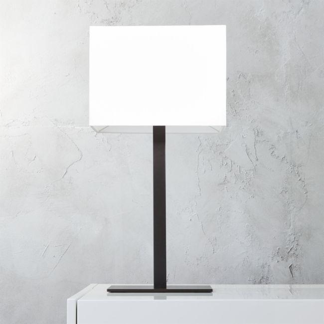 John Rectangular Table Lamp Reviews Cb2 Rectangular Table Lamp Black Table Lamps Modern Table Lamp