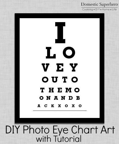 Diy Photo Eye Chart Art With Tutorial Diy Party Pinterest