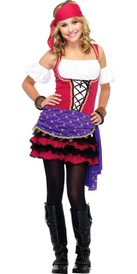 Teen Girls Crystal Ball Gypsy Costume - Party City Bling - halloween ideas girls