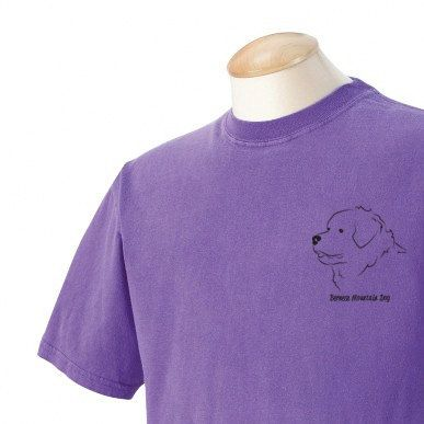 Bernese Mountain Dog Garment Dyed Cotton Tshirt by WryToastDesigns, $19.99