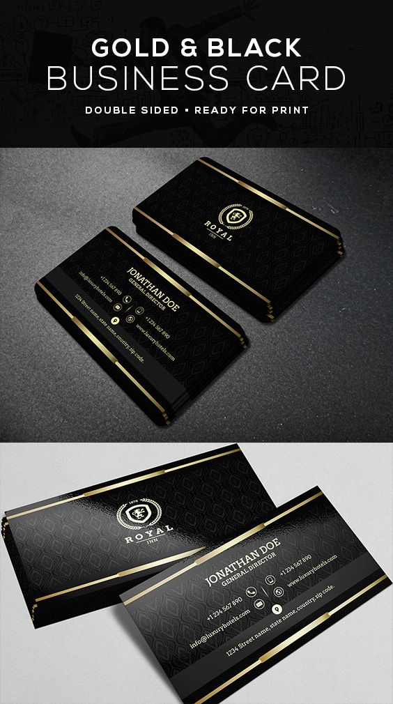 Gold And Black Business Card 40 With Images Black Business