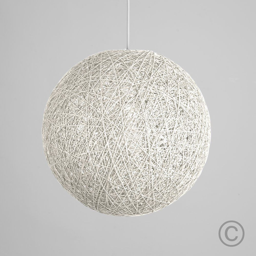 Contemporary White Wicker Abaca Ball Ceiling Light Pendant Shade Lampshade In Home Furniture Diy Lighting Lampshades Lightshades