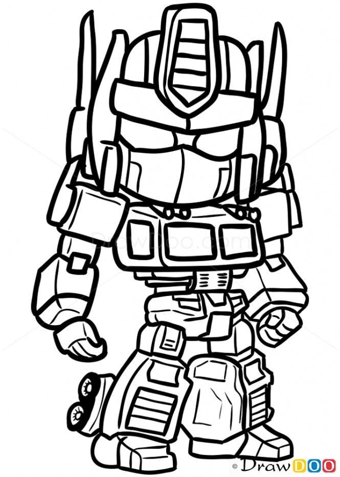 How To Draw Optimus Prime Chibi Optimus Prime Optimus Chibi