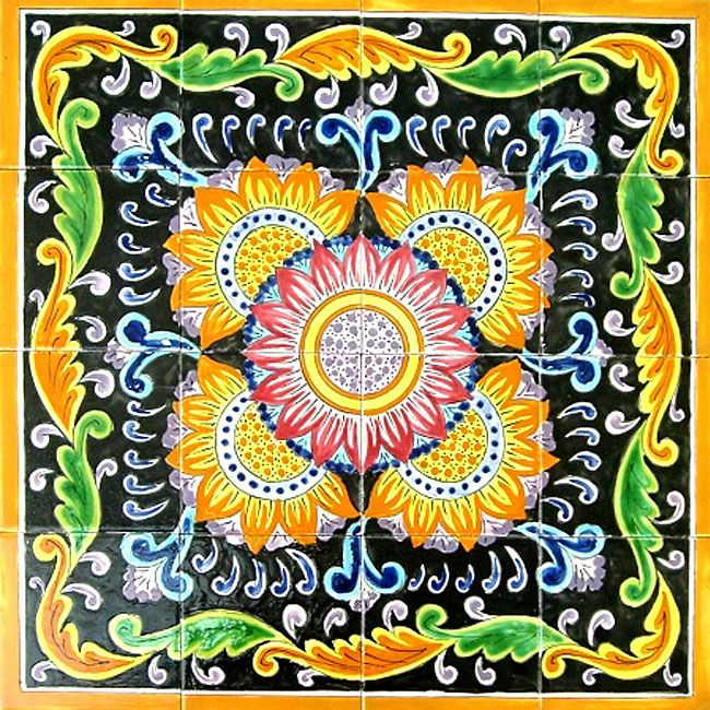 Mosaic tiles are handmade and hand-painted in the Mediterranean country of TunisiaCeramic tiles are individually fired and have a world class handmade finishEach mosaic is beautifully handcrafted so no two are exactly alike