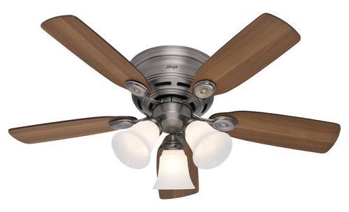 Hunter 42 Low Profile Plus 3 Light Ceiling Fan At Menards Ceiling Fan Blades Hunter Ceiling