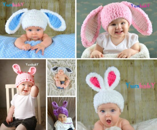 Floppy Bunny Ears Crochet Pattern With Video Tutorial | Gorros ...