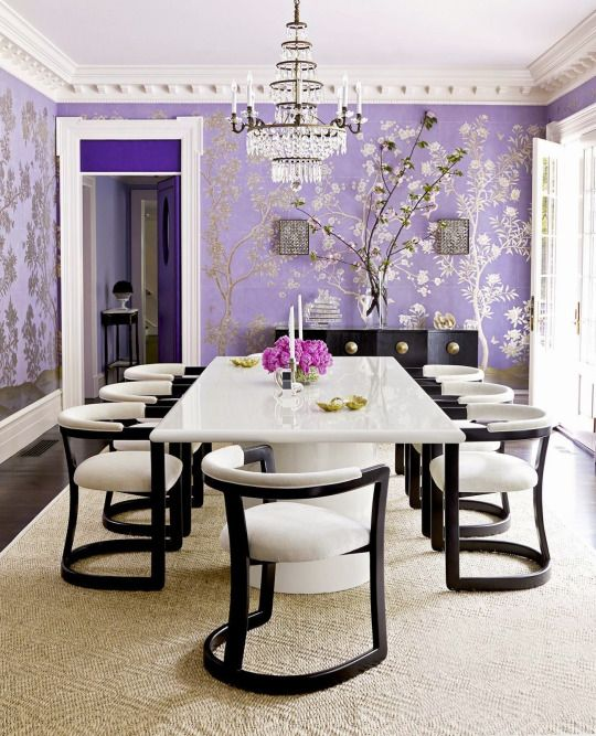 Gracie wallpaper in lavender ~ Mary McGee design Furniture