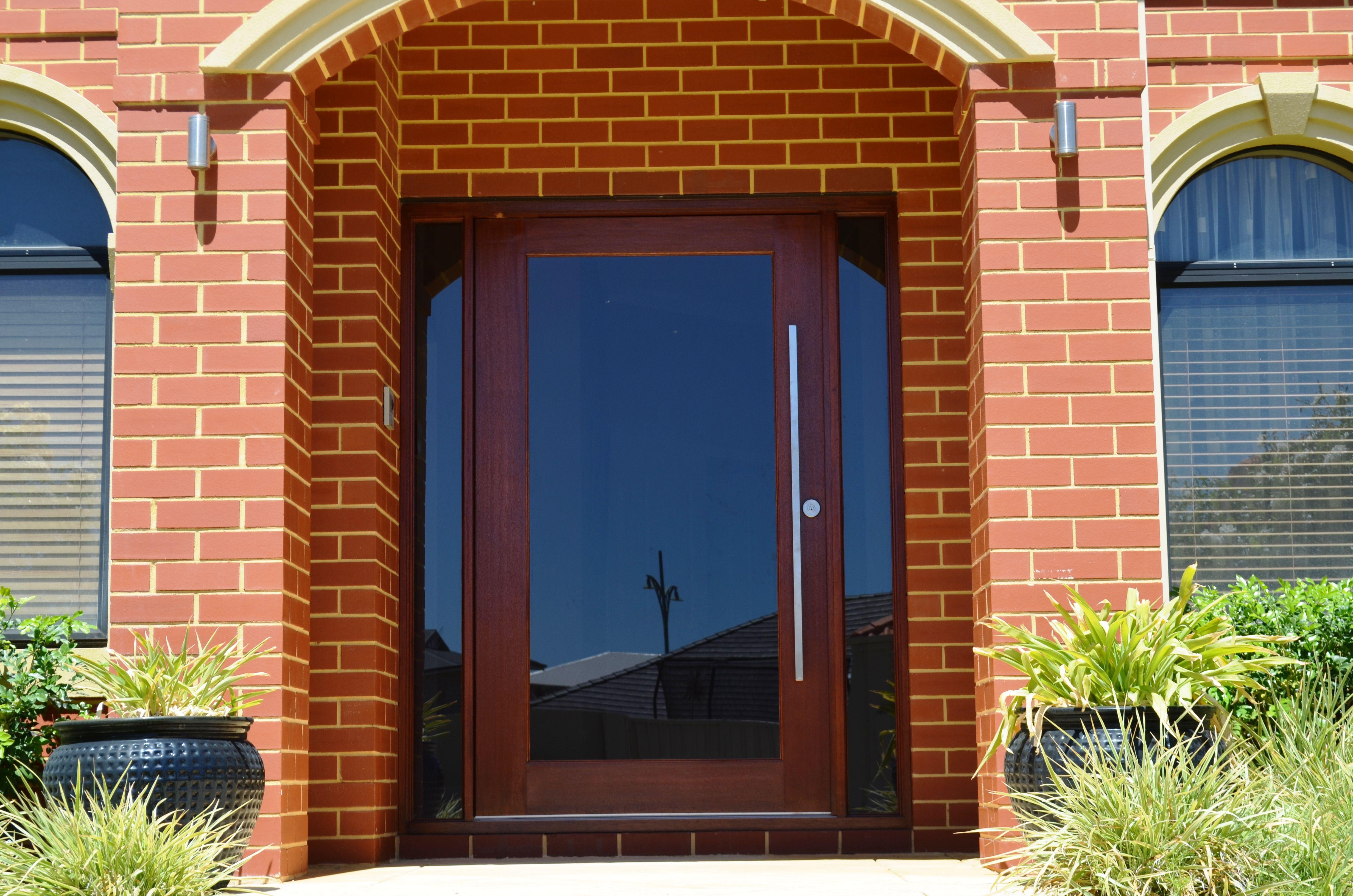 1 lite solid timber pivot door grey tint laminated glass for Home front door tint