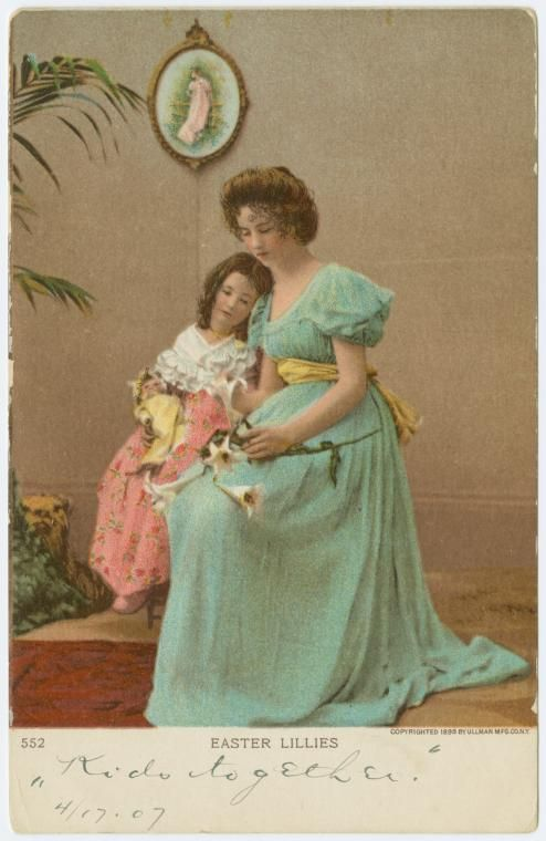Easter lillies american gilded age easter greeting postcard easter lillies american gilded age easter greeting postcard copyright c1898 m4hsunfo