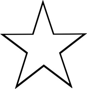 Star 5 Point Outline Star Template Printable Star Template Printable Star