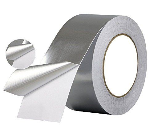 Wesy New Multi Purpose Aluminum Foil Tape Silver 2 Inch X 60 Yards 50mm X 55m High Temp Heat Resistant Foiled Tape Rolls For Hvac Repair Copper Foil Tape Insulation