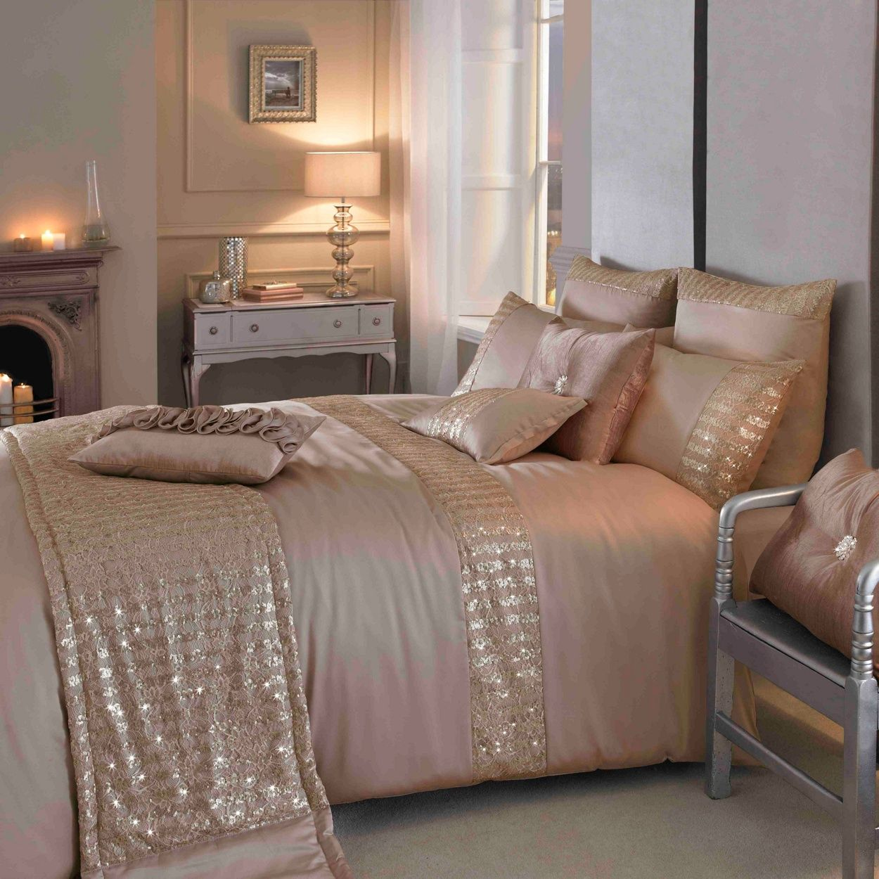 Kylie Minogue at home Kylie Minogue Gold 'Misha' Bedding- at Debenhams.com