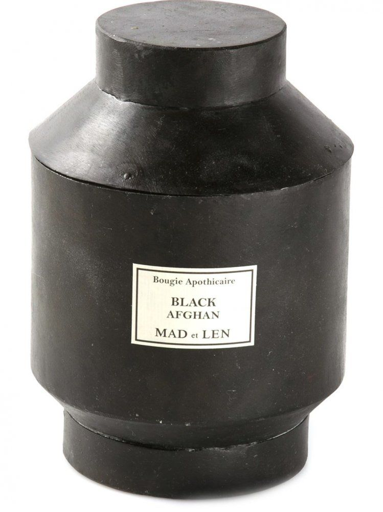 Mad Et Len Black Afghan Iron Canister Candle Scent Is Rich In
