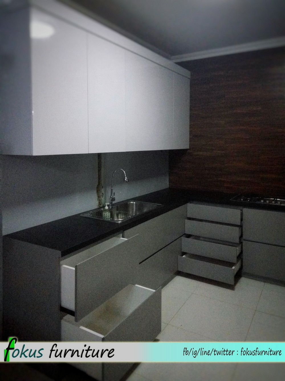 Kitchen Set Tanpa Handle Interior Dapur Minimalis Desain Dapur