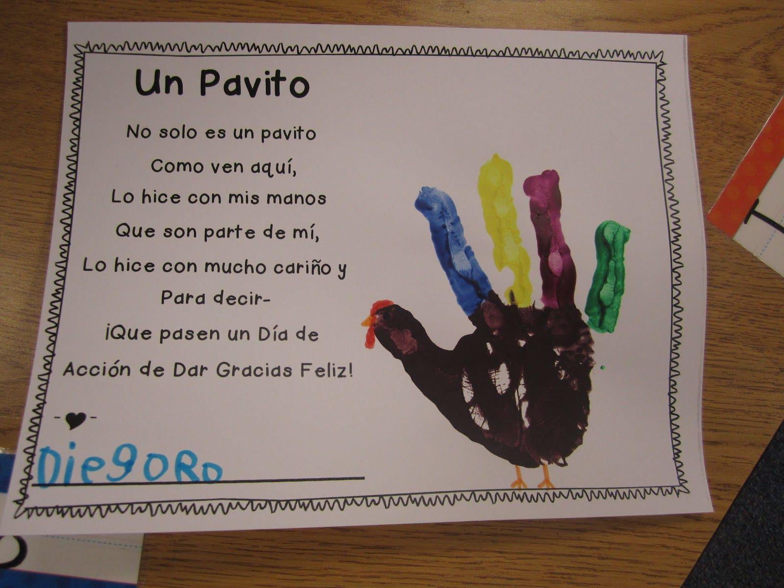 Thanksgiving Poems In Spanish For Kids