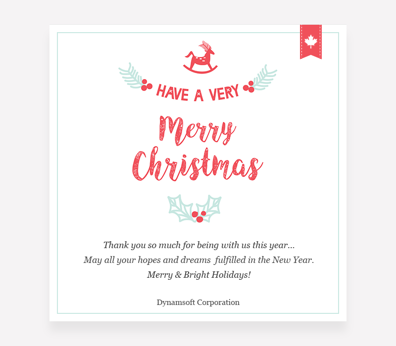 New Year Email To Our Customers Very Merry Christmas Christmas Thank You Merry And Bright