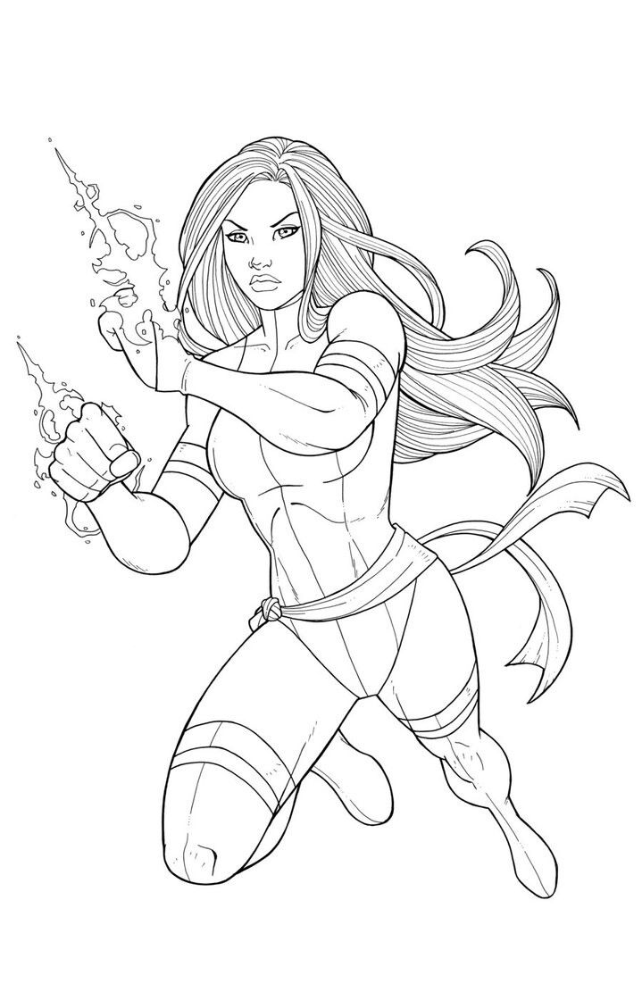 Pin By David Thompson On Luminarias Marvel Coloring Psylocke Comics Artwork