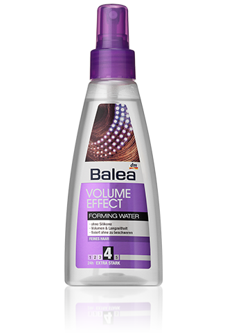 Volume Effect Forming Water Mehr Haarfulle Mehr Festigkeit Mit Pflegevitamin Panthenol Verleiht Dem Haar Geschmeidigkeit Un Balea Produkte Hausmittel Balea