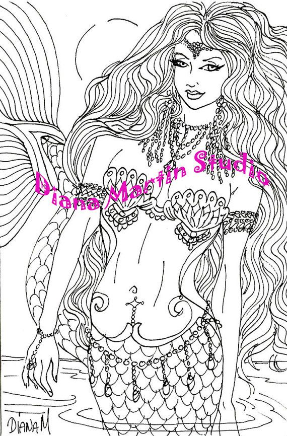 Enchantment Mermaid Jewelry Digital Stamp