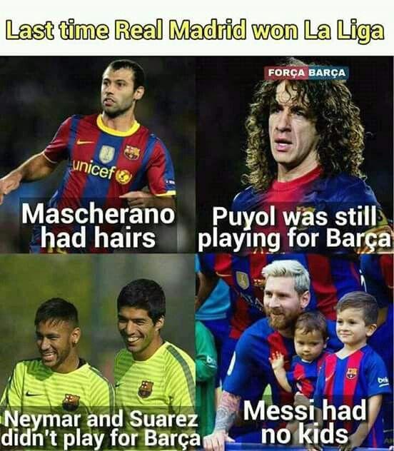 Pin By Stefanie Hernandez On Barcelona Football Memes Real Madrid Win Messi