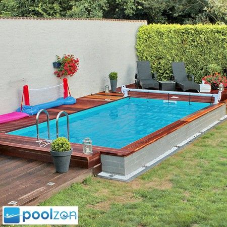 pool above ground pool bauen pinterest. Black Bedroom Furniture Sets. Home Design Ideas