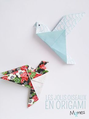 un oiseau en origami paper origami oiseau origami et. Black Bedroom Furniture Sets. Home Design Ideas