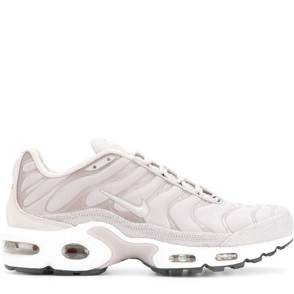 cd94a88d17 Nike Air Max Plus Premium TN sneakers ($193) ❤ liked on Polyvore featuring  shoes, sneakers, white sneakers, lightweight sneakers, white lace up  sneakers, ...