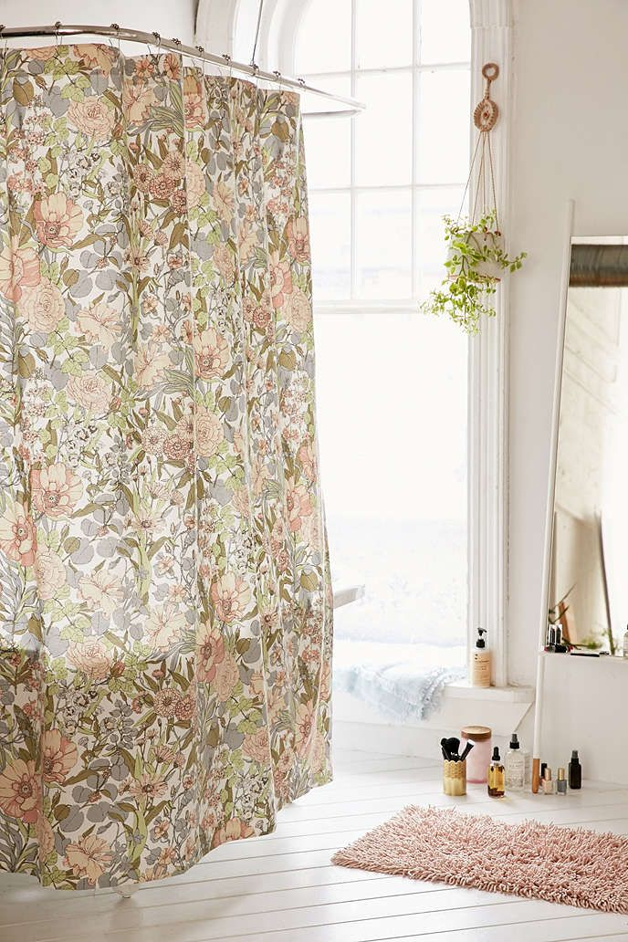 Shower Curtain Liner | Floral shower curtains, Spaces and Bathroom inspo