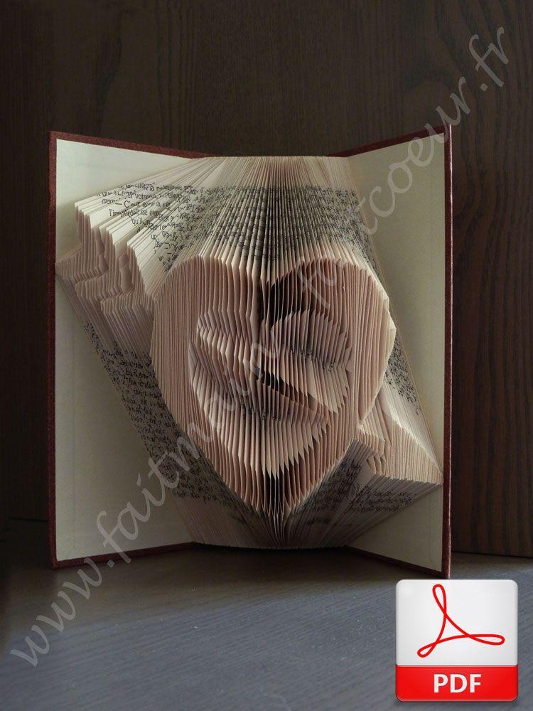 livre pli coeur transperc cupid arrow heart folded book tuto en papier paper diy. Black Bedroom Furniture Sets. Home Design Ideas