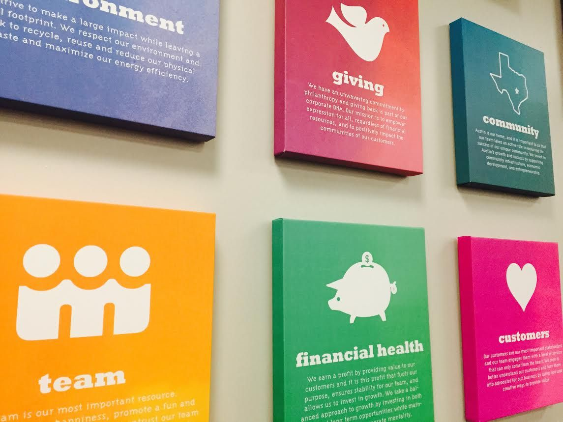 Corporate art spotlight canvas print ideas for your for Office branding ideas