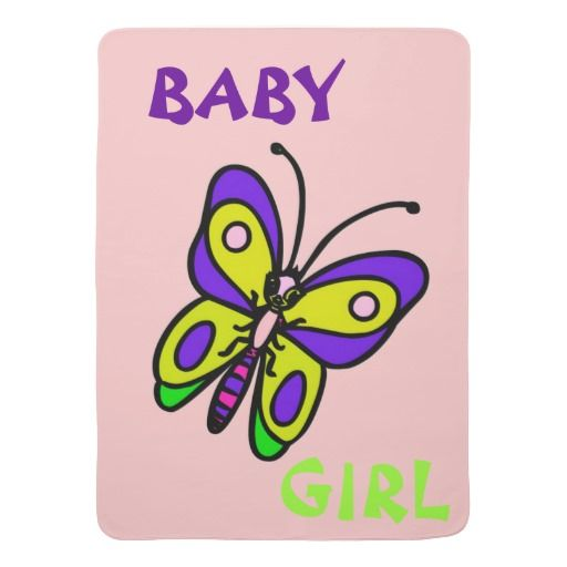 Beautiful Colored Butterfly Baby Girl Blanket