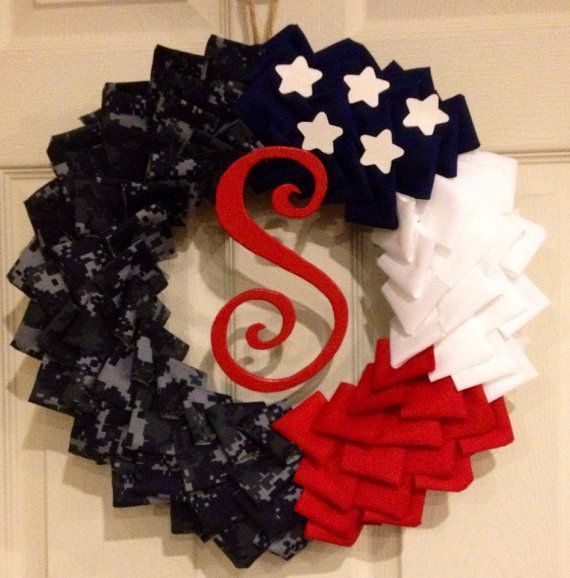 16 Military Wreath by HangEverythingUp1 on Etsy