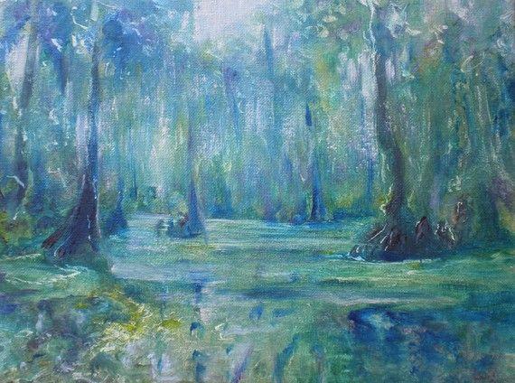 Swamp Landscape Painting Original Oil Painting Louisiana