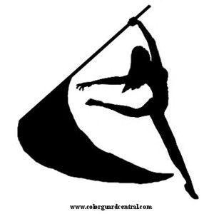 color guard clip art silhouette cricut ideas pinterest color rh pinterest com color guard clipart free color guard flag and rifle clipart