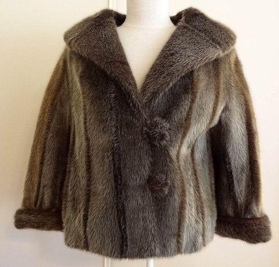 Vintage 50's 60's Genuine Seal Skin Fur Jacket by DakinisChoice ...