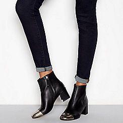 f12e256ed07 J by Jasper Conran - Black leather  Joe  block heel ankle boots ...