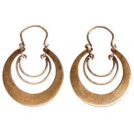 1920s Rose Gold Hoop Earrings
