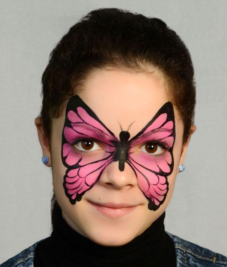 Schmetterling Im Gesicht Schminken Anleitung Makeup Fasching
