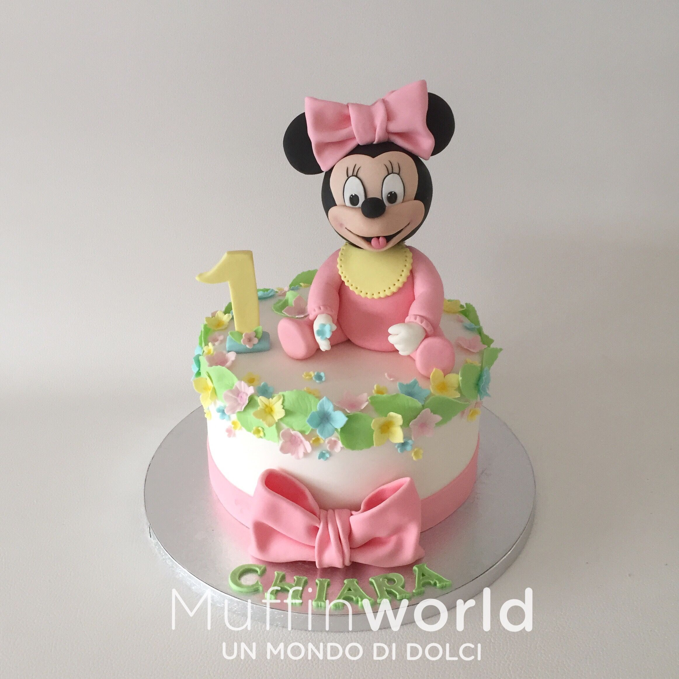 Torta per bambina Minnie in rosa Baby Minnie cake for girl birthday