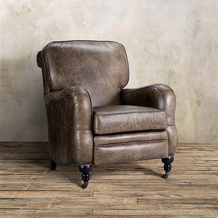 Brooklyn Leather Recliner In Brooklyn High Plains | Arhaus Furniture