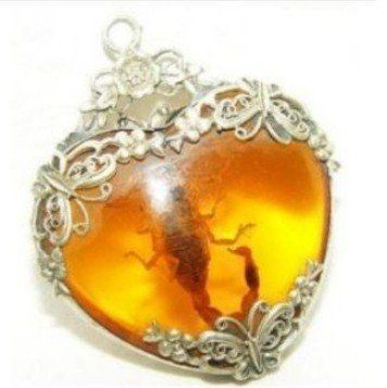 Tibet silver real Scorpion necklace Pendant