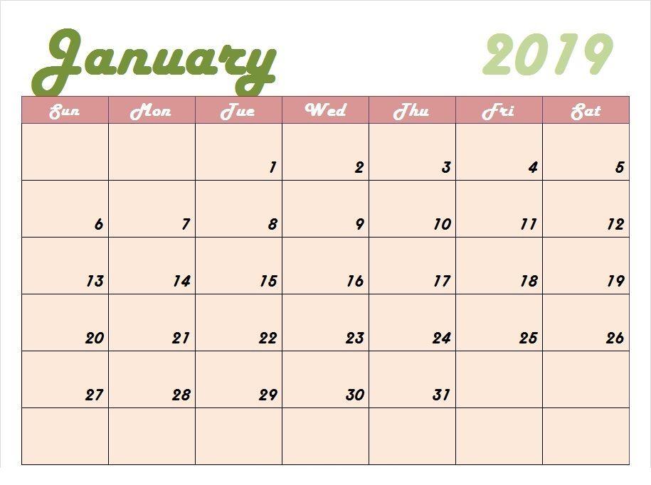 Cute January Calendar 2019 #january2019 #january