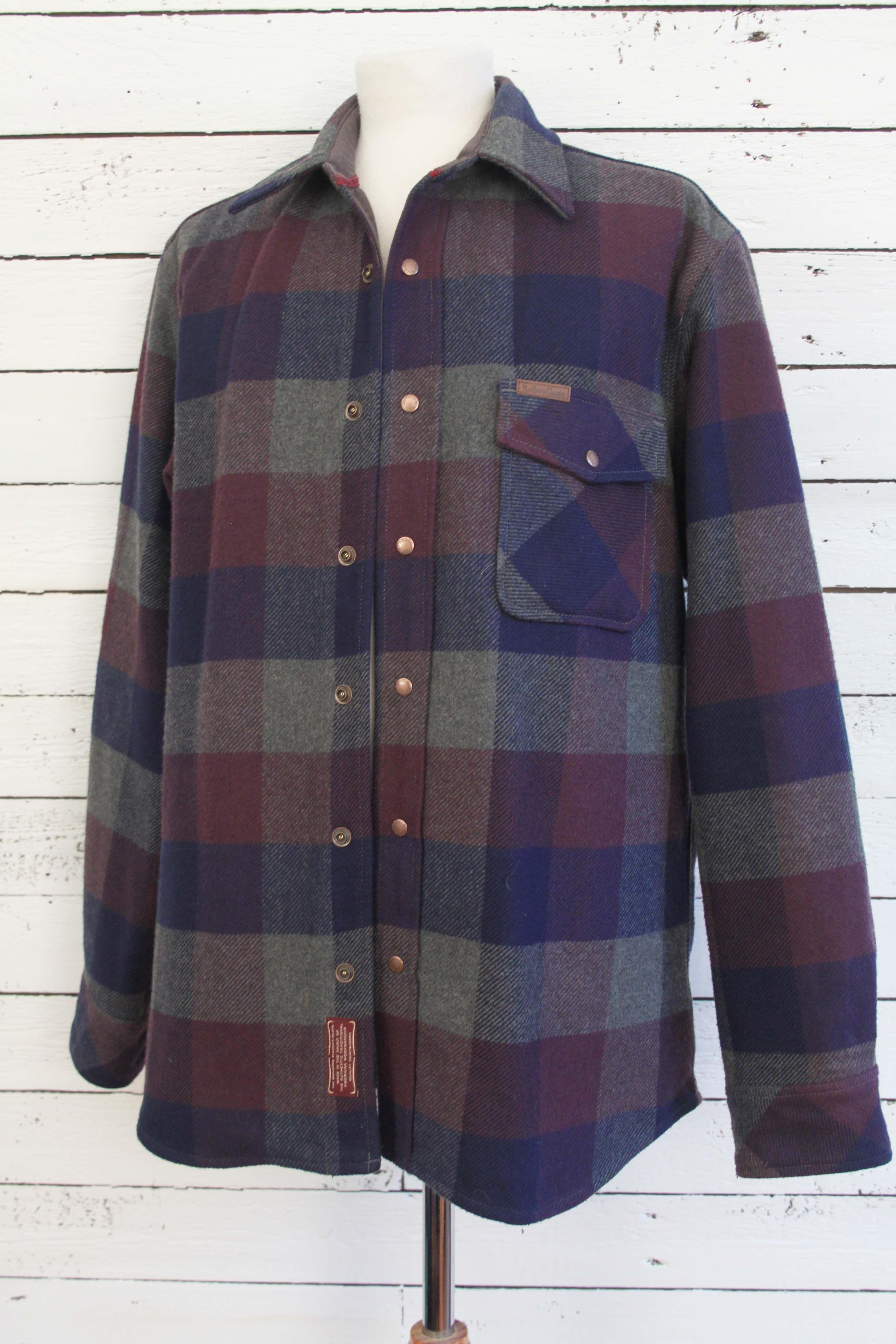 Marlboro Jas Vintage Of Dunne Blouse JacketDikke Classic Square 45c3AqRjL